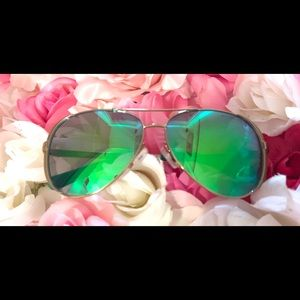Michael Kors Reflective Green Chelsea Sunglasses